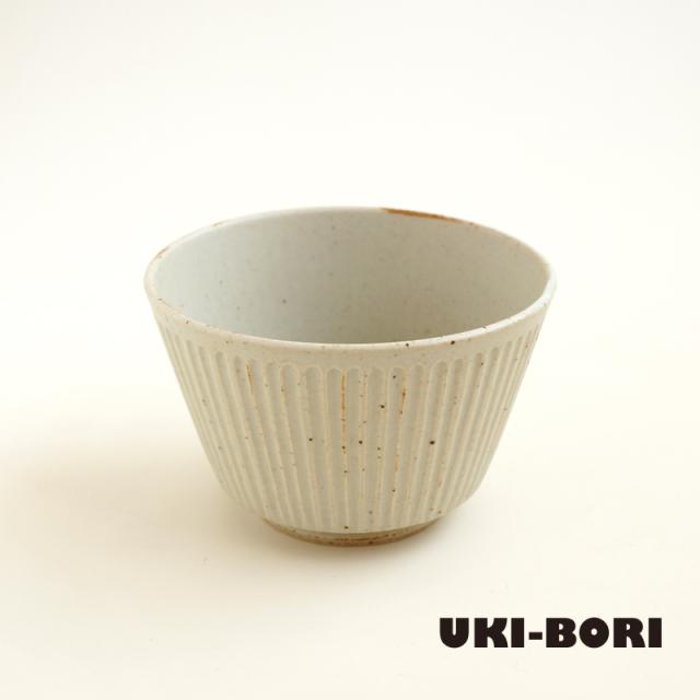 波佐見焼 一誠陶器 浮彫-UKIBORI- ボウル (S)  Kマット-生成り-