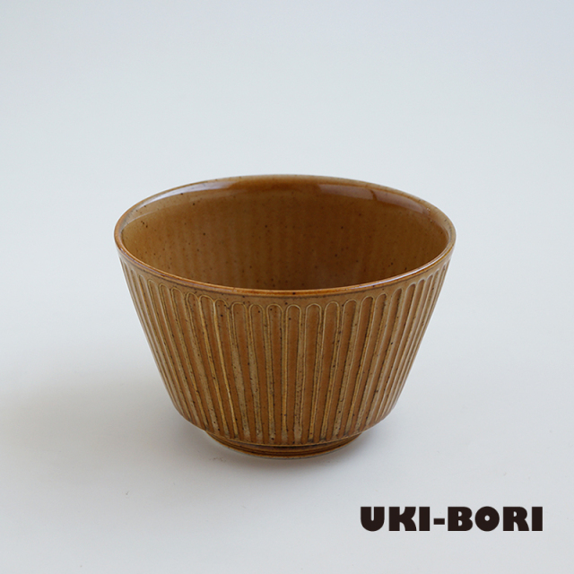 波佐見焼 一誠陶器 浮彫-UKIBORI- ボウル (S) 茶