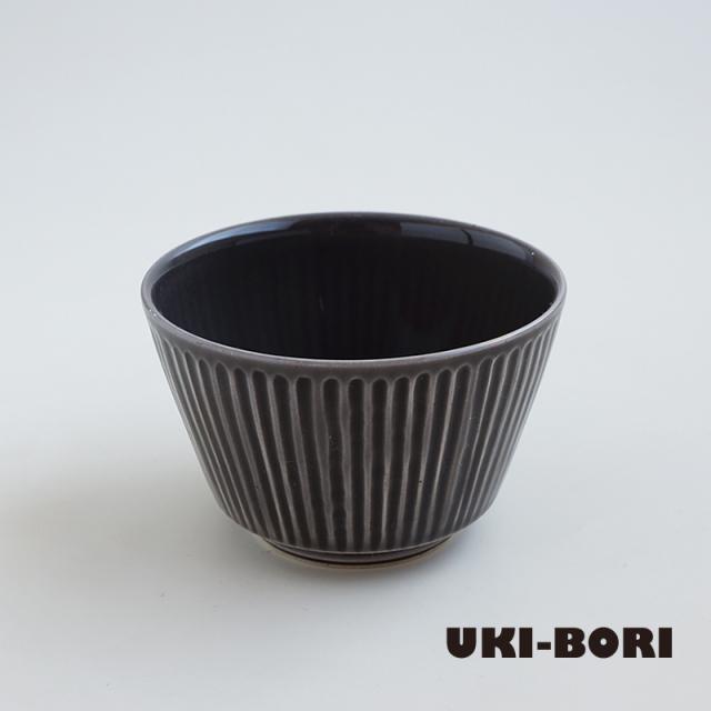 波佐見焼 一誠陶器 浮彫-UKIBORI- ボウル (S) グレー