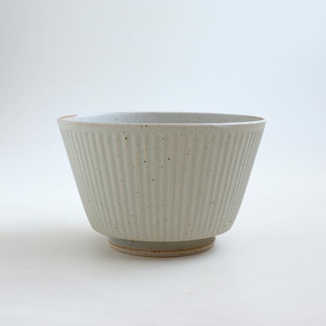波佐見焼 一誠陶器 浮彫-UKIBORI- ボウル (L)  Kマット-生成り-