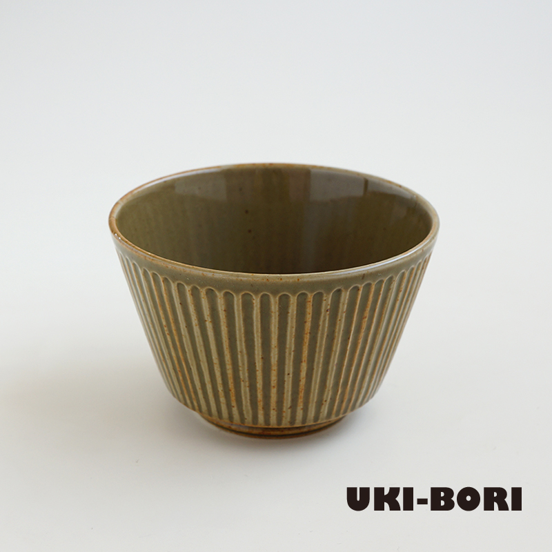 波佐見焼 一誠陶器 浮彫-UKIBORI- ボウル (S) 緑