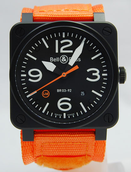ベル&ロス/Bell&Ross/BR03-92 CARBON ORANGE/限定500本
