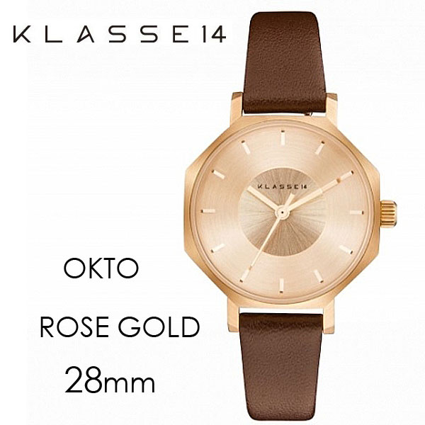 クラス14 KLASSE14 MARIO NOBILE OKTO ROSE GOLD BROWN LEATHER オクト 28mm OK17RG001S