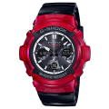 カシオCASIO G-SHOCK Gショック ジーショック 電波 タフソーラー デジタル 腕時計 ブラック レッド ホワイトAWG-M100SRB-4AJF【国内正規品】