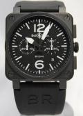 ベル&ロス/BR03-94 Chronograph/PVD ブラック
