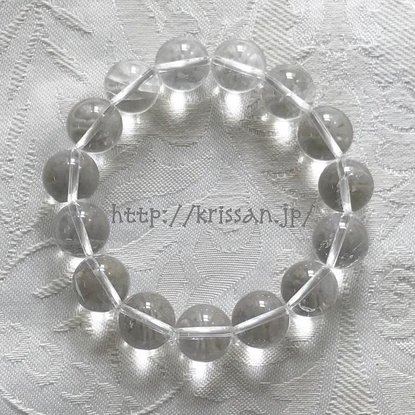 マニカラン 水晶 クォーツ ヒマラヤ水晶 大玉 ブレスレット パワーストーン 浄化