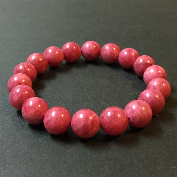インペリアルロードナイト 最高級 11mm ブレスレット パワーストーン 天然石 ブラジル産 恋愛運 癒し ピンク 赤 宝石質