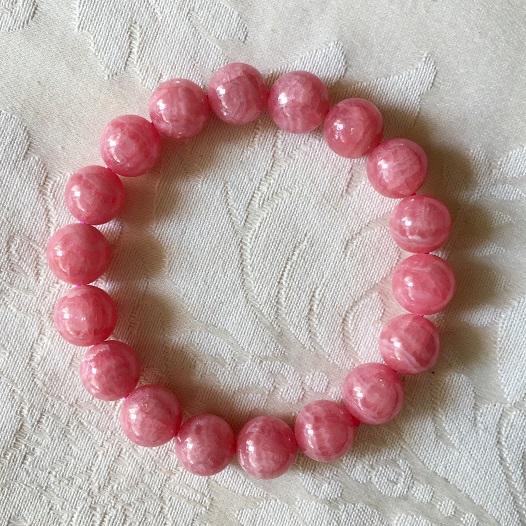 11-11.5mm インカローズ パワーストーン 天然石 通販 ブレスレット 恋愛運 ピンク アルゼンチン 高品質