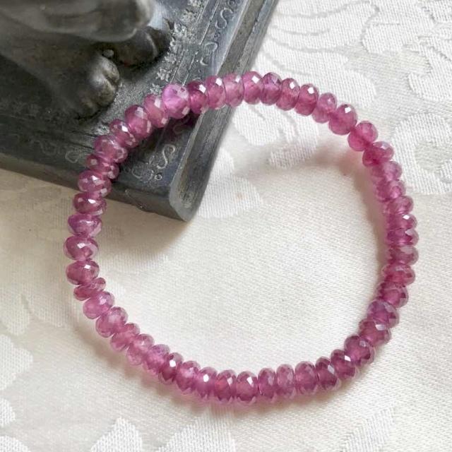 ピンクサファイア,5.5mm,4mm,ブレスレット,パワーストーン,天然石,恋愛運,通販,高品質