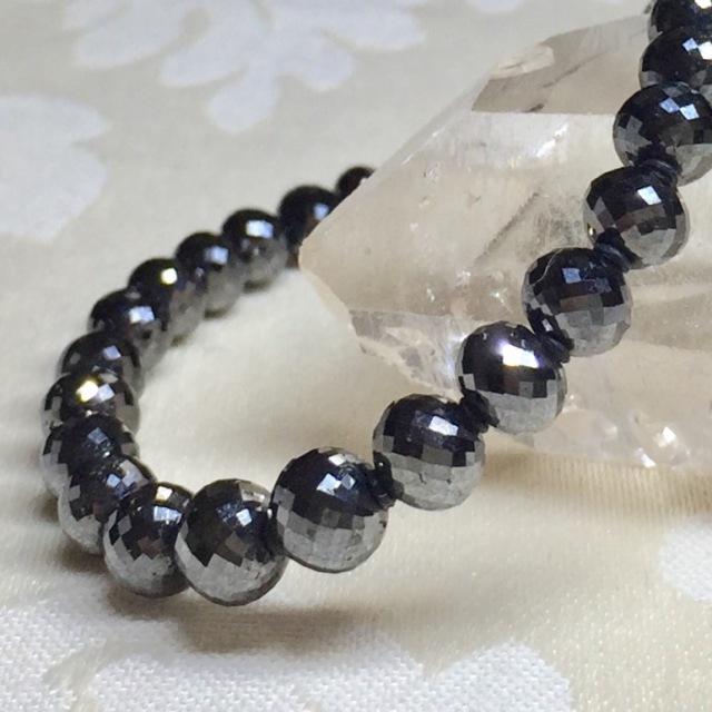 通販,パワーストーン.ブラックダイヤモンド.天然石.ブレスレット.オーダーメイド