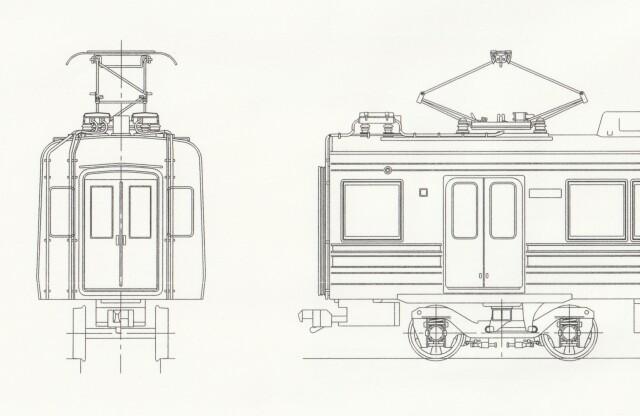 東急8090系・東横線・増備車 中間3両キット