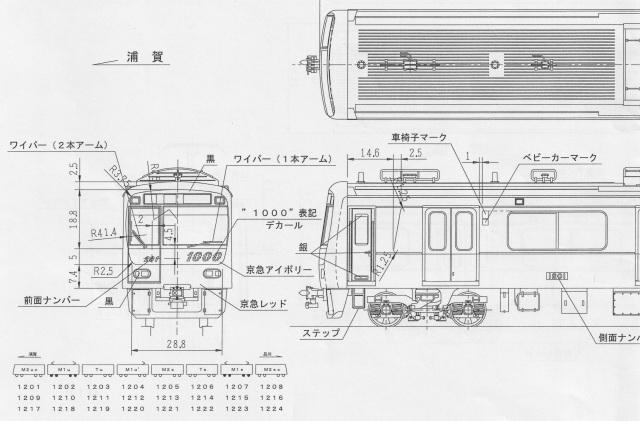 京急新1000形 17次車 8両キット