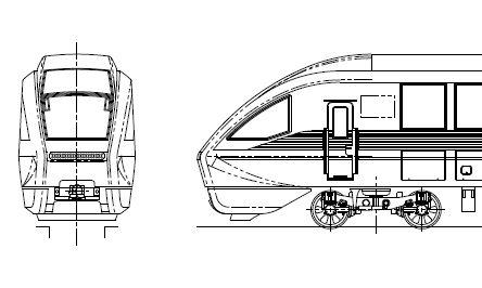 近鉄80000系 ひのとり 6両編成キット(パンタグラフ付)