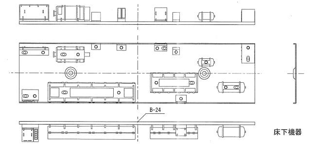 床下機器 サハシ165 冷房車用