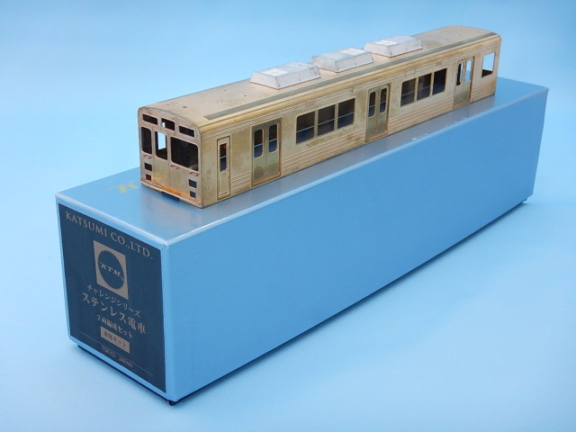 ステンレス電車2両編成キット