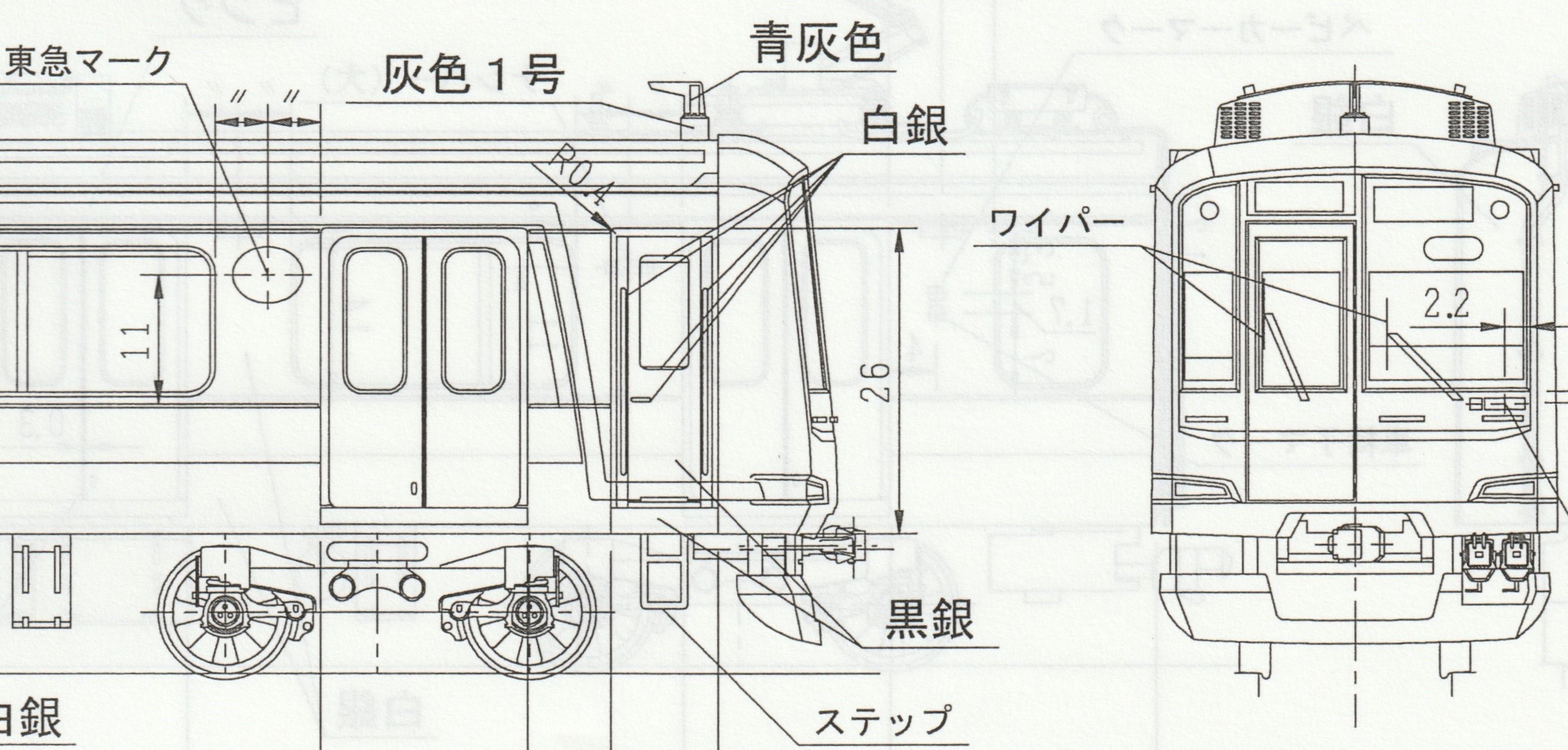 東急5050系4次車 8両編成キット