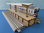 カツミクラフト 島式ホーム(V字屋根)