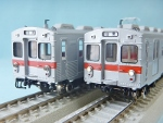 東急旧7000系 目蒲線赤帯 4両セット(豆本プレゼント)