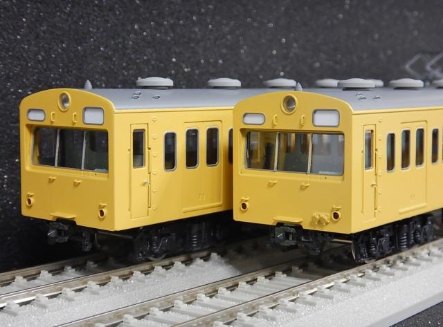 101系 非冷房・黄色 4両セット