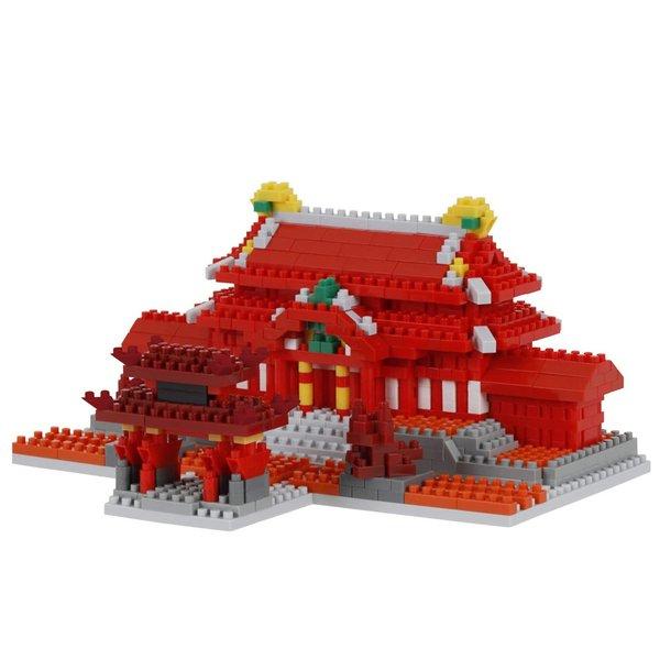 nanoblock ナノブロック 首里城 SHURI CASTLE ブロック 840pc DIYおもちゃ 教育玩具 マイクロサイズ 親子ゲームキット 小粒ビルディングブロック NBM-030