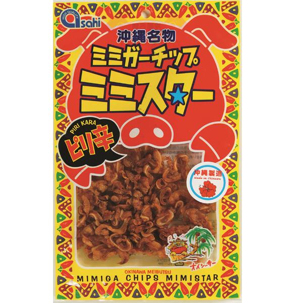 沖縄 お土産 おつまみ 沖縄名物 ピリ辛 沖縄製造 おいしーさー ミミガーチップ ミミスターピリ辛味 40g