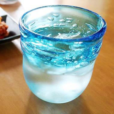 【琉球ガラス・泡ロックグラス】 GlassStudio尋