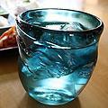 琉球ガラスの尋の泡ロックグラス