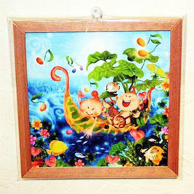 木精キジムナーのアートちび絵「クロトン号/Sサイズ37番」
