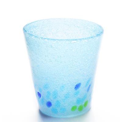 琉球ガラス「カレット泡グラス」