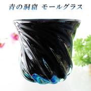 ガラス タンブラー おしゃれ プレゼント 沖縄 琉球 ガラス コップ【青の洞窟 モールグラス】