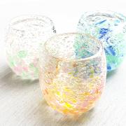 琉球ガラス グラス 沖縄 お土産 冷茶グラス コップ カップ 気泡の海タルグラス