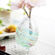 琉球ガラスの花瓶/そよ風一輪挿し・レインボー