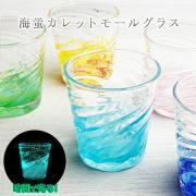 ロックグラス ウイスキーグラス 焼酎 ギフト 琉球ガラス グラス ホタル入り 海蛍カレットモールグラス