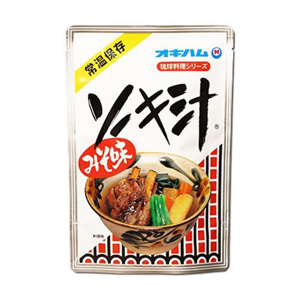 沖縄 お土産 お取り寄せ グルメ レトルト食品 琉球料理シリーズ 骨付きソーキ 豚のあばら肉 みそ味 ソーキ汁 400g