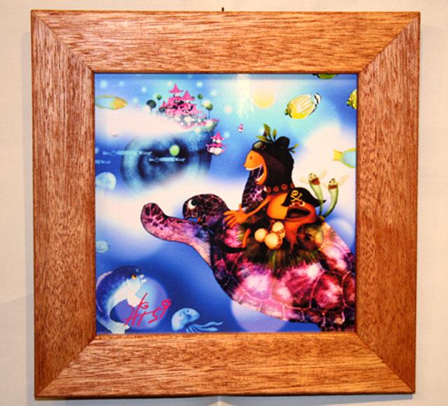 木精キジムナーのアートちび絵「竜宮城/Mサイズ13番」