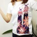 紅型風Tシャツ/あうんシーサー