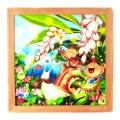 木精キジムナーのアート ちび絵「月桃の花/Sサイズ44番」