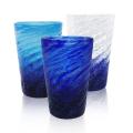 琉球ガラスのタンブラー/コバルトモールタンブラー