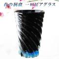 ビールグラス おしゃれ プレゼント ビアグラス ビールタンブラー 琉球ガラス【青の洞窟 一口ビアグラス】