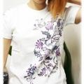 藍染風Tシャツ/ヒビス