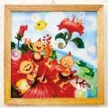 木精キジムナーのアートちび絵「ハイビスカスの夜/Sサイズ38番」