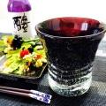 父の日におすすめ「黒紫泡グラス」