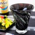 男が惚れる大人のグラス「黒紫泡ビアグラス」