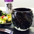琉球ガラス/男が惚れる大人のグラス「黒紫泡タルグラス」