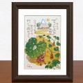 絵画 額付き 絵 壁掛け インテリア アート おしゃれ 誕生日プレゼント 島の彩Sサイズ No.030 / てぃーだあみ