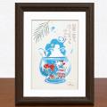絵画 額付き 絵 壁掛け インテリア アート おしゃれ 誕生日プレゼント 島の彩Sサイズ No.032 / 金魚鉢