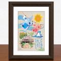 絵画 額付き 絵 壁掛け インテリア アート おしゃれ 誕生日プレゼント 島の彩Sサイズ No.033 / 午後のひととき