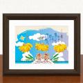 絵画 額付き 絵 壁掛け インテリア アート おしゃれ 誕生日プレゼント 島の彩Sサイズ No.040 / 島バナナ