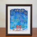 絵画 額付き 絵 壁掛け インテリア アート おしゃれ 誕生日プレゼント 島の彩Lサイズ No.007 / 花火