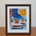 絵画 額付き 絵 壁掛け インテリア アート おしゃれ 誕生日プレゼント 島の彩Lサイズ No.008 / 満天の星空
